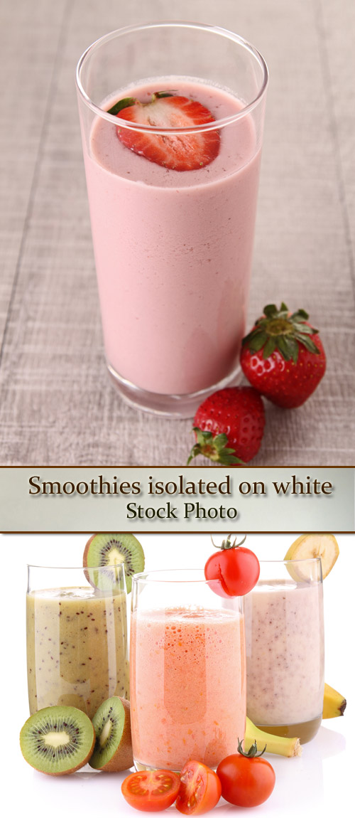 Stock Photo: Smoothies isolated on white