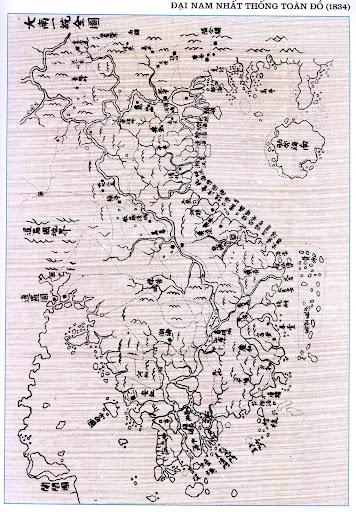 """Xuất xứ của bản đồ cổ """"Đại Nam Nhất Thống Toàn Đồ"""""""