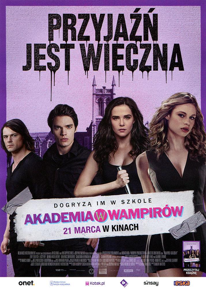 Ulotka filmu 'Akademia Wampirów (przód)'