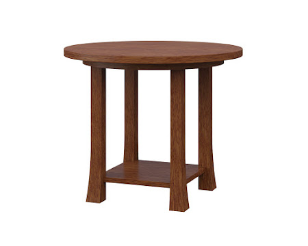 Round Edmonton End Table in Old Master Quarter Sawn Oak