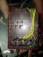 underside of FET board