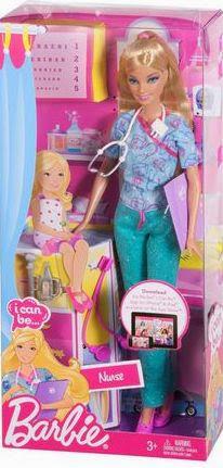 Bao bì sản phẩm Búp bê Babie W3737 trở thành y tá