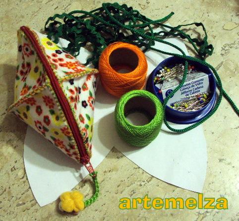 artemelza - bolsinha 4 pontas