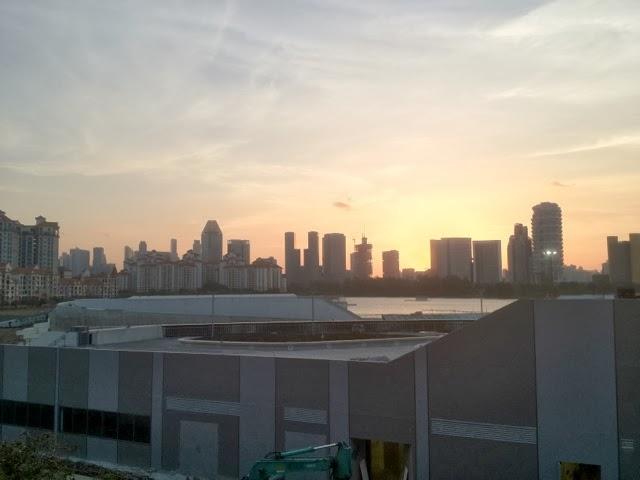 sunset view from Stadium