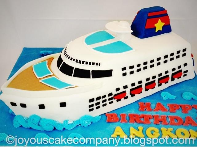 Joyous Cake Company Cruise Ship - Cruise ship cake