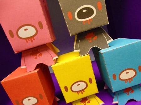 KiriHaru Gloomy Bear Paper Toy