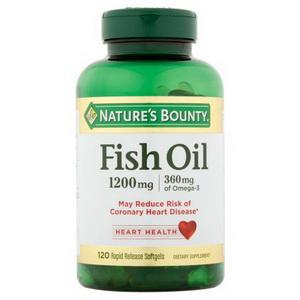 Dầu cá Nature Bounty Fish Oil hàm lượng Omega 3 cao của Mỹ