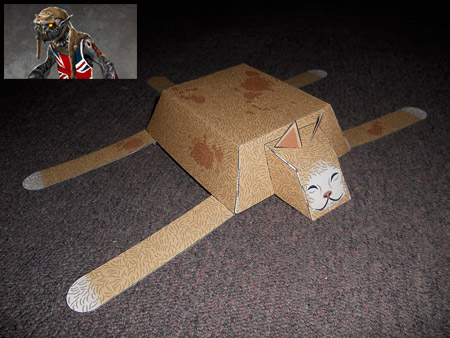 Darkling Cat Hat Papercraft