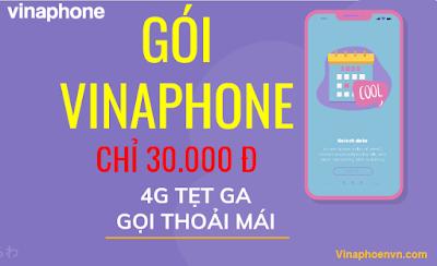 Gói cước VinaPhone 30.000đ Miễn phí Data, Gọi cực ưu đãi