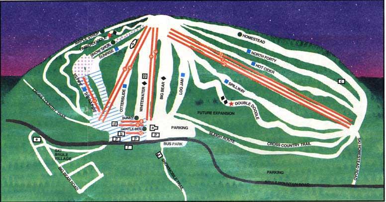 Terrain map - Ski Brule