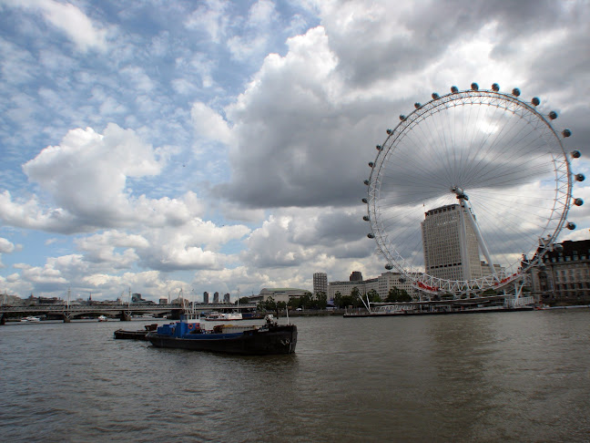 River Thames and London Eye, London, United Kingdom