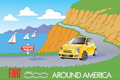 Fiat 500 Around America