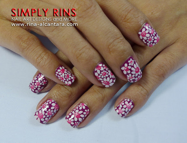 Flower Power Nail Art Design 03