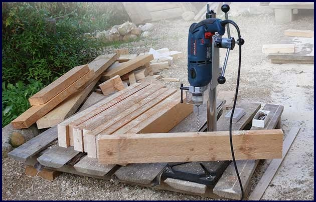self-made drilling machine-based drills