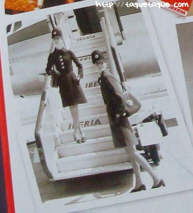 azafatas iberia 1977 uniforme elio berhanyer