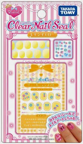 CN-03 Bộ trang trí móng tay màu vàng với nhiều sticker trang trí đẹp mắt