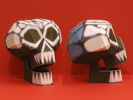 Kingdom Hearts 2 Oogie's Manor Skull Papercraft