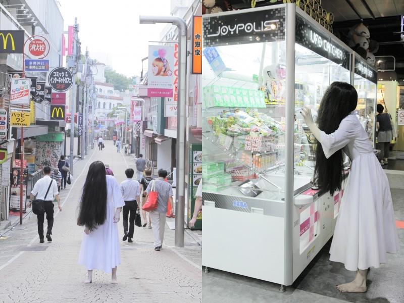 DVD限定セットに貞子写真集「貞子の休日」美容院でオシャレを楽しむ貞子かわいい