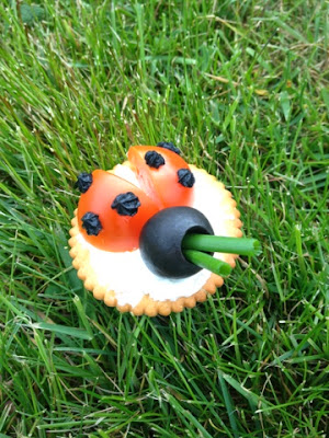 Ladybird Canape. party food, cute food, nibbles