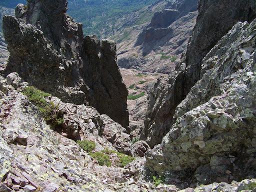 Couloir gazeux de l'autre côté de la Brèche des Géologues