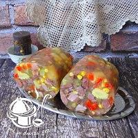 galareta z szynki i warzyw w osłonce barierowej