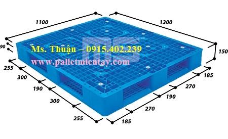 Pallet nhựa nhập khẩu 1300 x 1100 mm