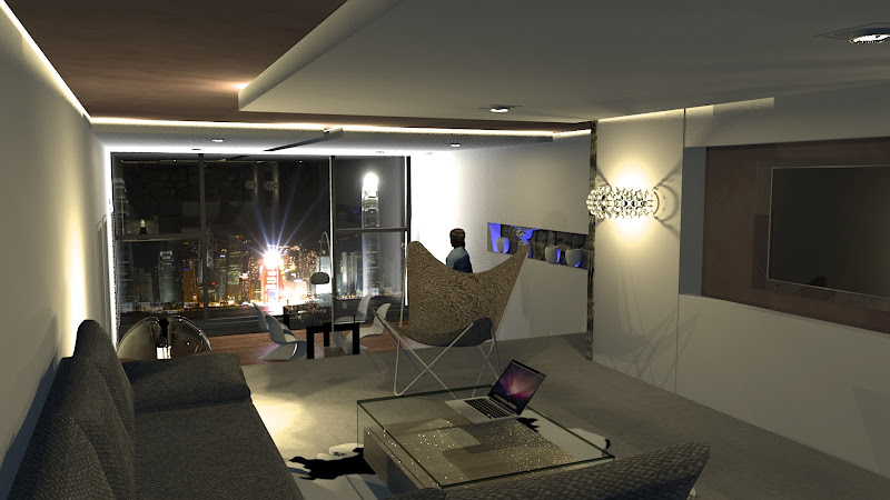 Voici Le Séjour Du0027un Appartement Avec Une Salle à Manger En Léger  Contrebas. Ju0027espère Que Cela Vous Plaira.