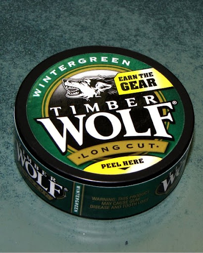 Can of Timberwolf Smokeless Tobacco