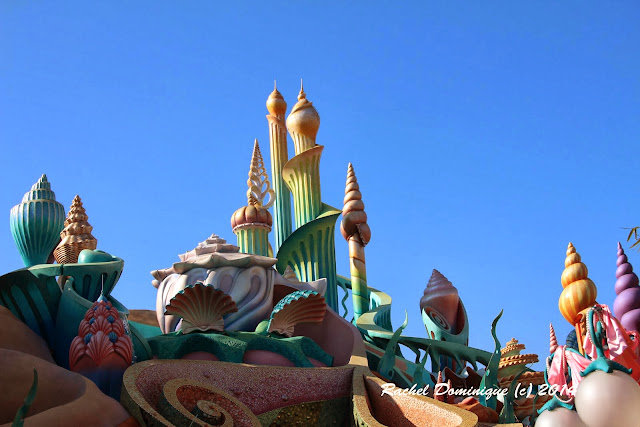The decorations at Mermaid Lagoon