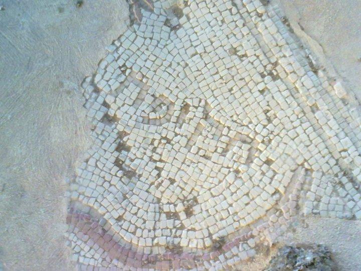 הפסיפס של בית הכנסת נערן ביריחו
