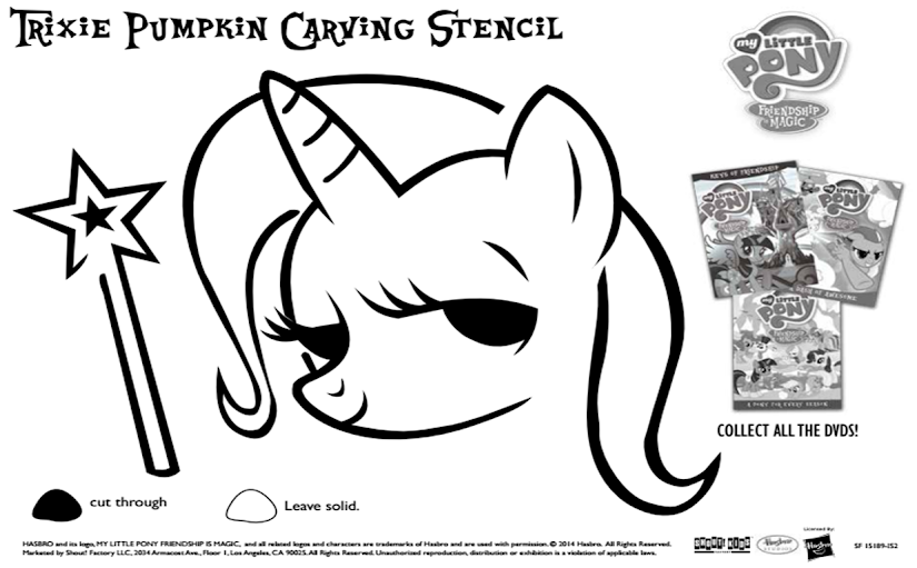 Free Printable My Little Pony Pumpkin Stencil