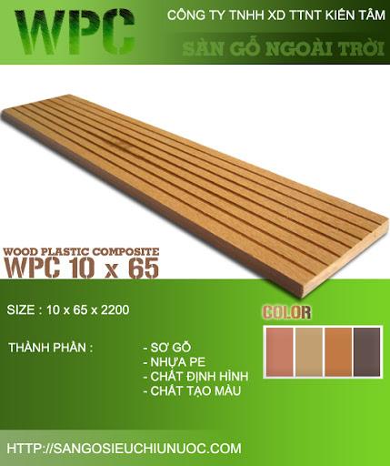 sàn gỗ ngoài trời nhân tạo WPC
