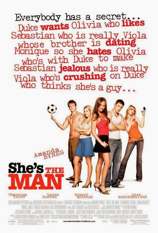 Poster Of She's the Man (2006) Full Movie Hindi Dubbed Free Download Watch Online At Alldownloads4u.Com