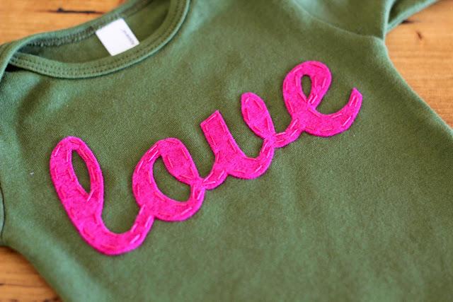 Artesanato em feltro para personalizar roupas