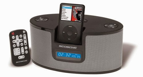 Scosche IALM2 Stereo Alarm Clock for iPod (Black)
