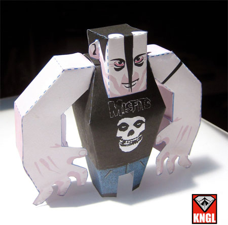 Misfits Jerry Only Papercraft