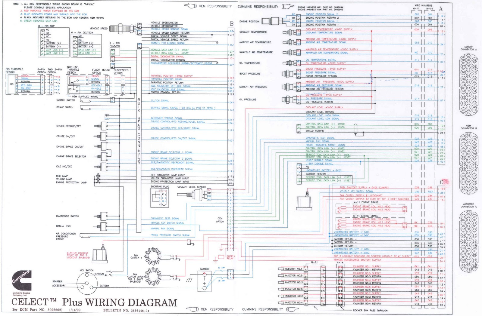 Comfortable Cummins N14 Wiring Schematic Images Electrical
