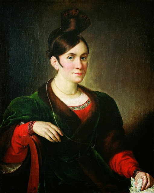 Vasily Tropinin - Portrait of Kiseleva