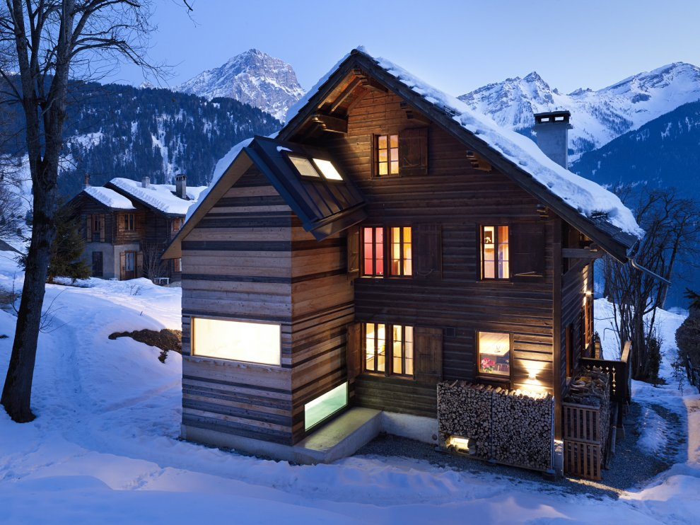 Log Cabin In The Swiss Alps By Lacroix Chessex