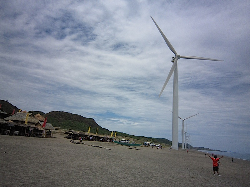 tourists at the Bangui Wind Farm