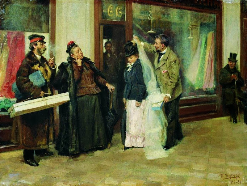 Vladimir Makovsky - The Choice of Wedding Presents, 1898