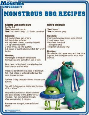 Monsters University BBQ Recipes #MonstersU