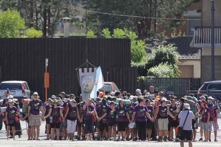 Arrivo a S. Maria degli Angeli (Pg) marciatori del nord