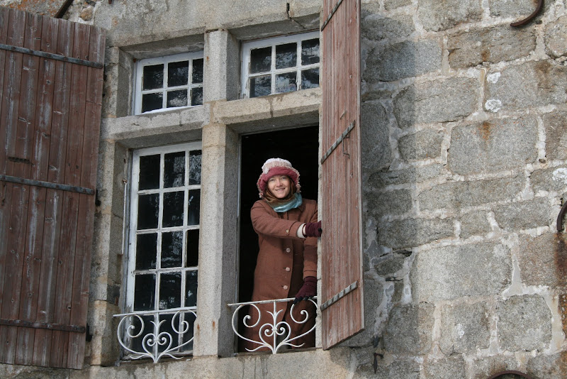 Notre entrée dans le Manoir du Grail à Devesset en Ardèche