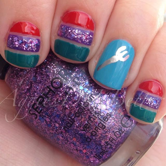 Aggies Do It Better: Princess Week-Ariel inspired nails plus tutorial!