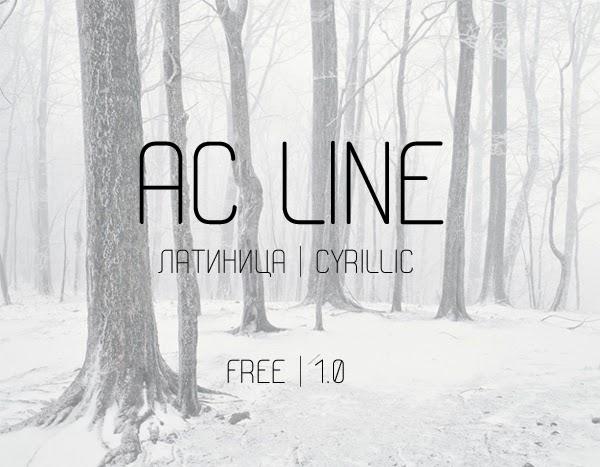 AC Line Free Fonts