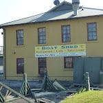 Boat shed building near beach near La Perouse (308405)