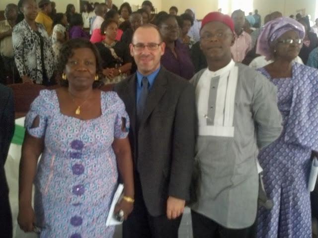 Dr. Michael Bitz speaking in Nigeria