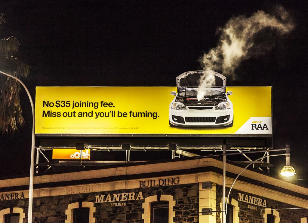 A Smoking Billboard for Royal Auto Association