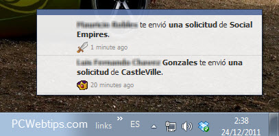 notificaciones facebook en windows